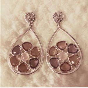 Anthropologie Jewelry - NWOT Anthro Genuine Crystal Pink Glass Stone